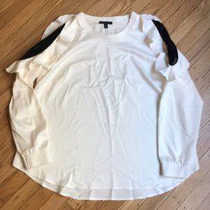 LANE BRYANT off white long sleeve blouse